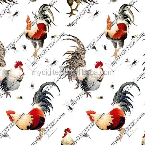 2017 new design digital printing fabric animal print