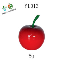 lovely mini plastic fruit and vegetable shape container cherry shaped plastics 8g