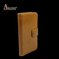 Real top grain cow leather phone case for iphone 5 wallet case