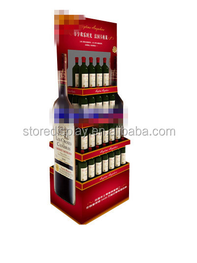 Best decorative wine bottle holders display stand with shelves from China supplier