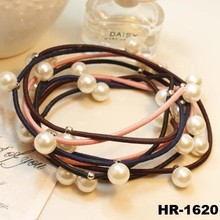 High quality thick hair bands elastic hair band with pearl