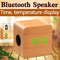 2016 wood super bass big outdoor portable wireless mini bluetooth speaker with fm radio