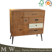 Vintage solid wood cabinet and chest with drawer,high quality Living Room Furniture