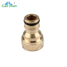 Brass garden hose swivel connector, male thread connector,nipple tap adapter
