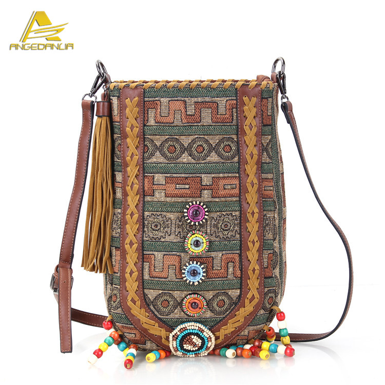 2016 stylish vintage new ethnic boho sling canvas shoulder bags