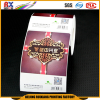 China supplier waterproof top quality die cut OEM ODM barcode sticker printing label sticker