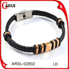 Hot selling weave leather bracelet simple leather jewelry braided bracelet