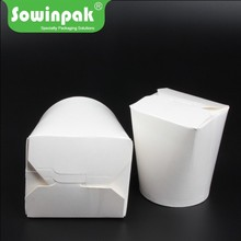 Eco friendly paper cardboard noodle food packaging boxes round bottom