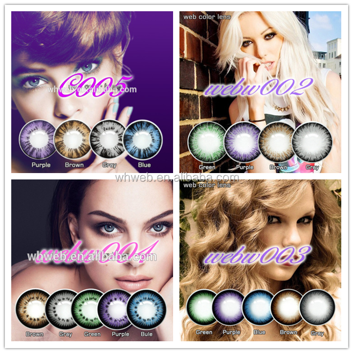 Wholesale Crazy Tri Color Contact Lens For Contact Lens Big Eyes