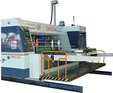 hebei Corrugated print slot die cut machine with gluer in line