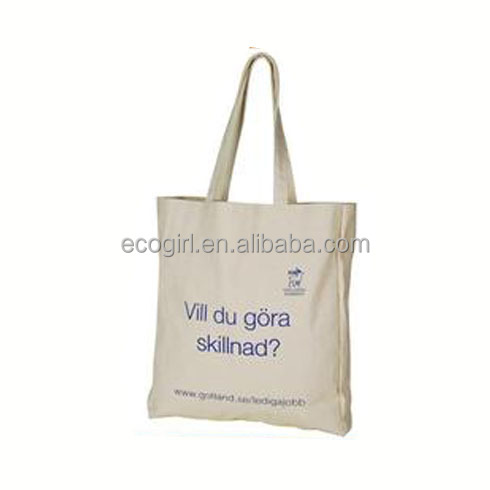 popular eco-friendly reusable promotional fashionable modern shopping easy carry grocery long hand cotton bag