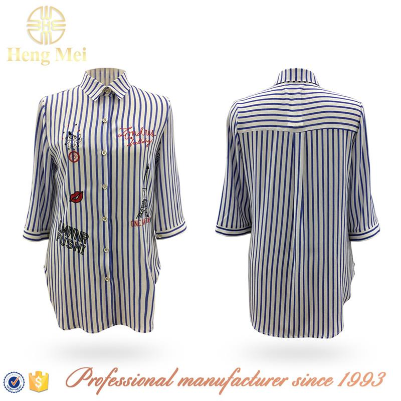 2017 ladies 3/4 sleeve blouse designs new styles spring autumn shirts and blouses