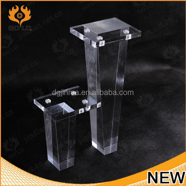 Custom Design Clear Acrylic Legs For Furniture,acrylic Furniture Legs