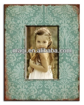 Table decor beautiful antique wooden photo frame