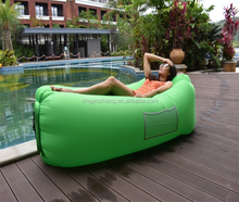 2018 shenzhen Inflatable Hangout Hammock Air Lounge Sleeping Bags Air Sofa Low Price Bean Bed Lazy Bag