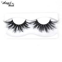 Top quality 25mm mink eyelashes wholesale price false eyelashes 2019 new style real mink fur 5D 3D strip eyelashes