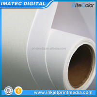 420GSM Matte Digital Inkjet Printing Poly Cotton Canvas Fabric Roll for Pigment Inks Printing