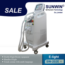 E-Light IPL hair removal/skin rejuvenation/pigmentation/vascular/acne removal machine big spot