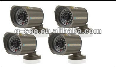 Sony Color CCD 420TVL Infrared LED Security Surveillance Box Camera 4PK