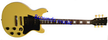 yellow cream LP style guitar wholesale electric guitar best quality OEM guitar JR model