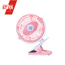 Mini 4 blade fan li-battery air cool clip fan for notebook