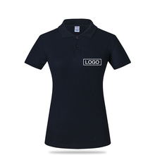 Yiwu Promotional Gifts 100% Cotton Women Black Custom Polo T Shirt