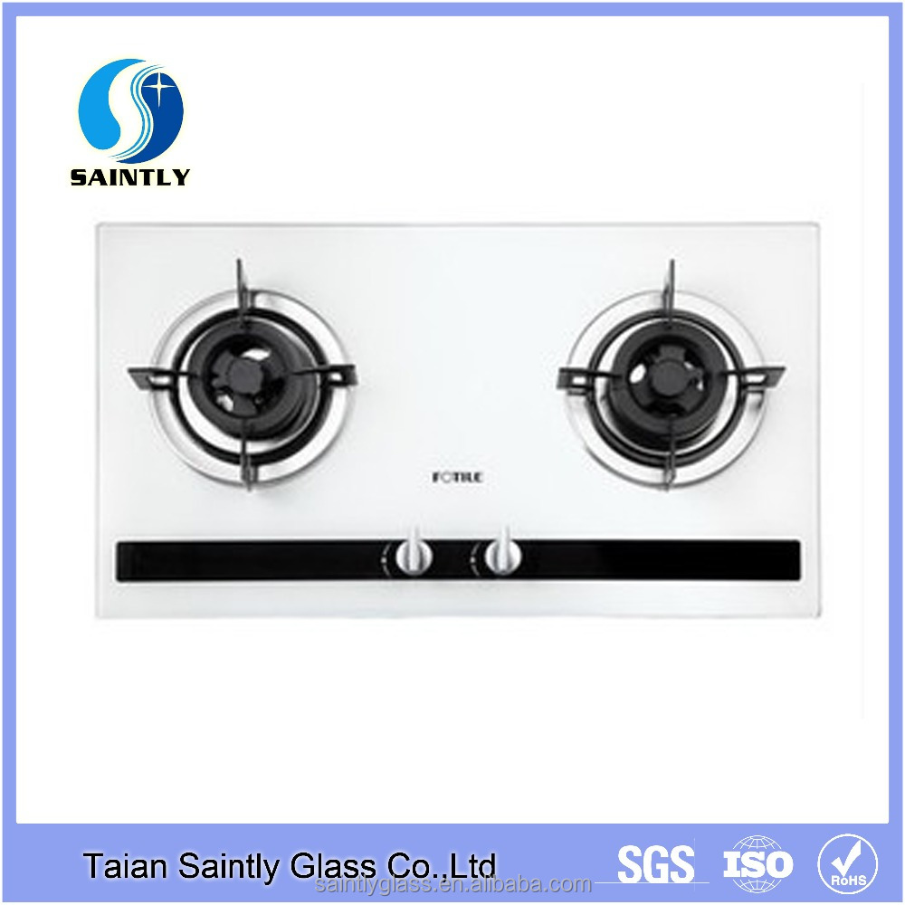 6mm-10mm tempered low iron decorative glass panel for gas stove