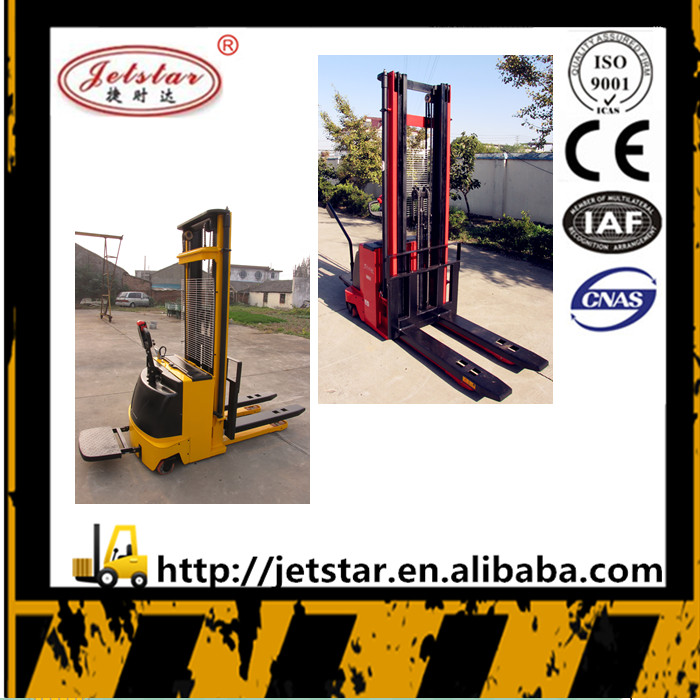 China 1.5 ton 5.5m AC/DC Motor forklift electric fork lift stacker