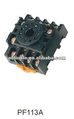 10A plug-in relay socket/omron relay socket/electriccal relay socket PF113A