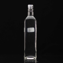 China manufacturer square and round shape glass wine bottle for liquor spirit