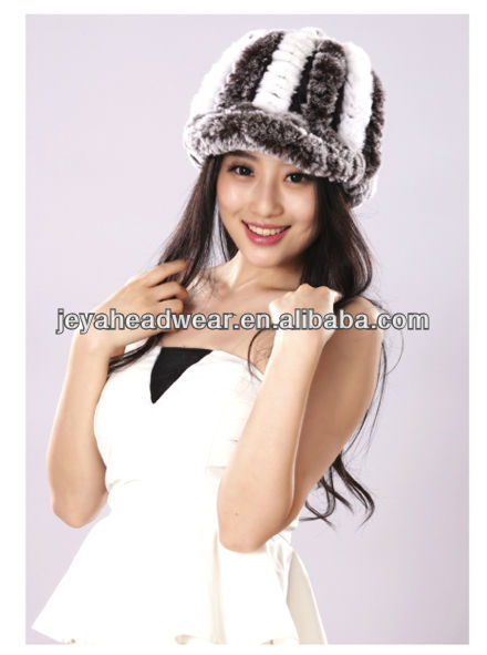 Cheapest lady knitted beanie hat with ear muff for winter