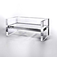 Acrylic Bench Acrylic Furniture, Acrylic Double Seat Bench