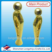 2013 custom golden oscar metal trophy made in china for awards