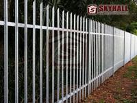 UK market ISO9001:2008 manufacturer pvc coated palisade fence, galvanized palisade fence