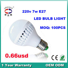 Promotion Price 1 Warranty CE RoHS 220v led bulb lamp 7w E27