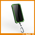 2017 Hot selling high capacity portable universal 10000mAh solar power bank with camping light