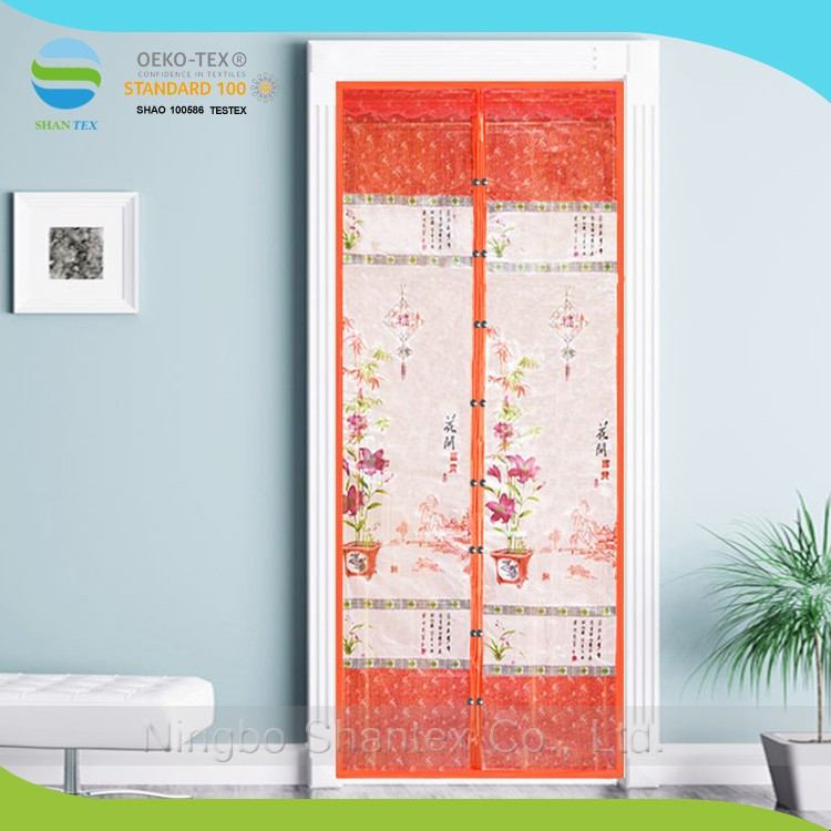 Chinese style Anti magnetic interior fly soft screen door