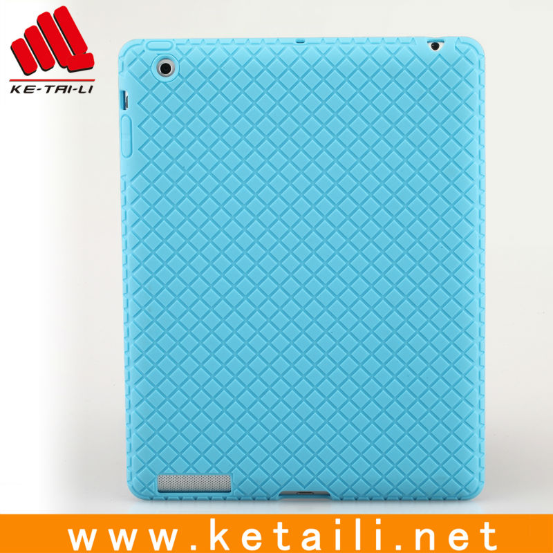Hot Selling Slim Solid Color Protective Silicone Case for Apple iPad 5/Case for iPad 5