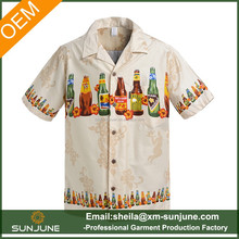 Fashion custom Aloha shirt hawaiian print shirts for men