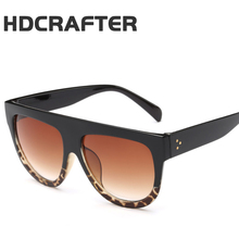 HDCRAFTER Flat Top Mirror Sun Glasses Cat Eye Sunglasses Luxury brand Classic Men and Women Fashion Goggles Sun glasses UV400