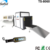 Airport Subway X-Ray Baggage Scanner Gun Metal Detector With Conveyor Belt TS-8065