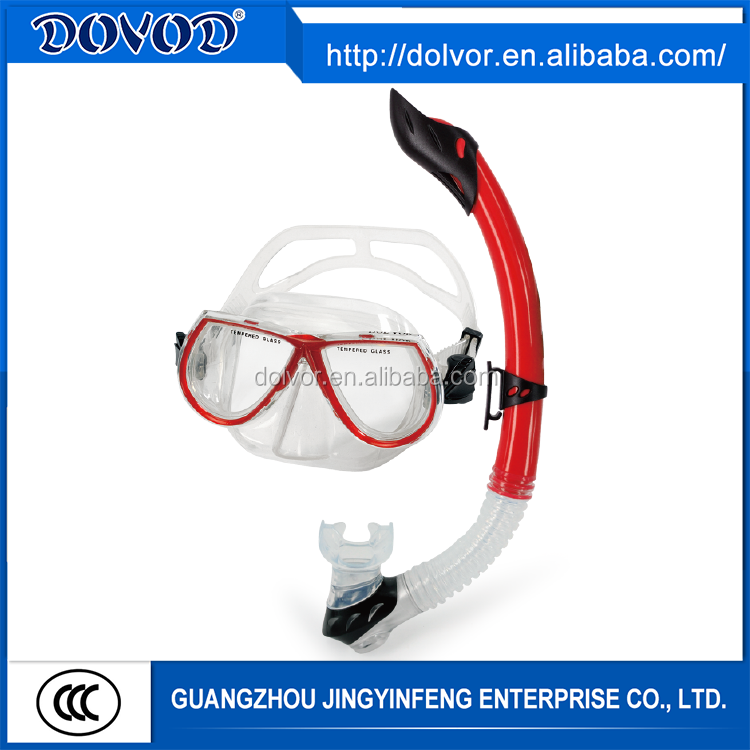 OEM service or customized diving equipment diving mask snorkel and fins set