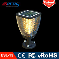 Ce Rohs Top Selling Warm White Led Solar Lamp Post For Garden