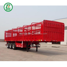 Cattle Transporter Fence Trailer Cargo Fence Truck Trailer 3 Axle Fence Semi Trailer For Sale