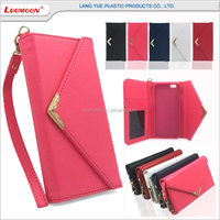 wholesale envelop style wallet leather phone case for apple iphone for samsung for lenovo a850 a3000