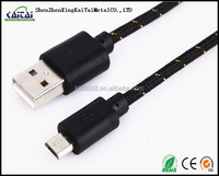 Braided Micro USB cable for mobile phone All Models