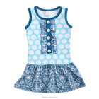 Polka Dot Toddlers Clothing Baby Girl Dress Unique Boutique Clothing Wholesale