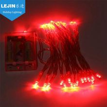 New item red outdoor battery operated christmas lights Free sample party decoration