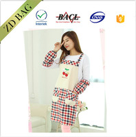 beautiful printing recycle cooking pocket apron with Raglan sleeve