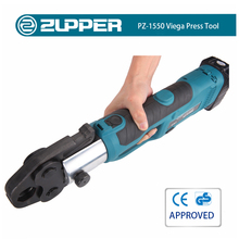 Zupper PZ-1550 Battery Powered Viega Pipe Fitting Press Tool For Copper 1/2'' to 4''